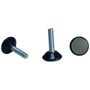 TG 5/16(18) x 1-1/4 BASE 1-1/8 BLACK FLYPAW  - GLIDE - LEVELLERS