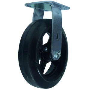 RIG 8x2 RUBB/CAST PLT RB  - 8 in.             ( 203 mm ) - CASTERS