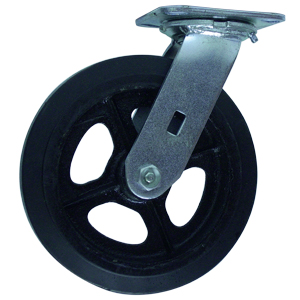 SWL 8x2 RUBB/CAST PLT RB  - Rubber / Cast Iron - CASTERS