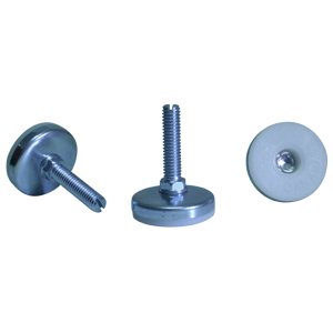 GTF 3/8(16) x 1-1/2 FENTE BASE 1-3/4 BLANC/CHROME  - 1 3/4 po  ( 44 mm ) - GLISSOIRES - NIVELEURS