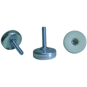GTF 3/8(16) x 1-1/2  BASE 1-3/4 BLANC/CHROME  - 1 3/4 po  ( 44 mm ) - GLISSOIRES - NIVELEURS