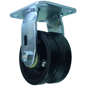 RIG 4x2 VGROOVE CAST PLT RB  - Roller Bearing (RB) - CASTERS
