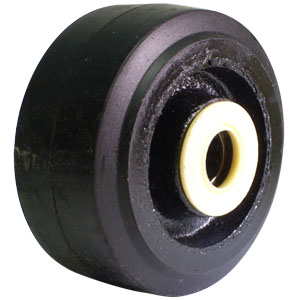 WHL 4x2 MLD RUBB/CAST 3/4 RB  - 4 in.              ( 102 mm ) - WHEELS