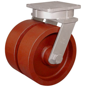 SWL TWN 12x4 DUCT STEEL TPBRG  - 12 in.            ( 305 mm ) - CASTERS