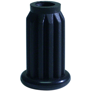SOCKET PLAST 1'' 7/16 ROUND BLK  - - NONE - - ADAPTERS
