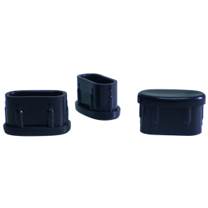 INSERT OVAL 7/8x1 1/2 BLK  - Tube Divers - INSERTS