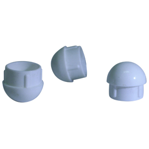 INS RND 1 (16-18) WHITE DOMED  - INSERTS