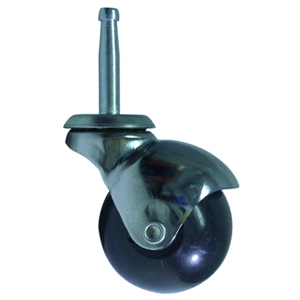 SWL 2'' BALL POLY CHRM WOOD STEM  - Polyolefin - CASTERS