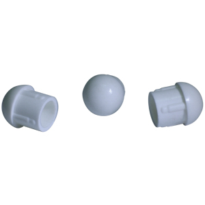 INS RND 7/8 (16-18) WHITE ANGLED DOMED  - White - INSERTS