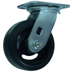 SWL 5x2 RUBB/CAST PLT RB  - Rubber / Cast Iron - CASTERS