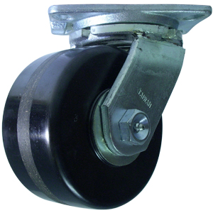 SWL 6x3 PHEN PLT RB HD  - Industrial Casters (HD 2000+ lbs) - CASTERS