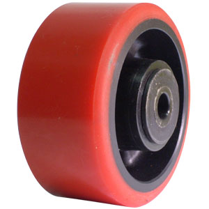 WHL 4x2 URE/GLNY RED/BLK 1/2 DEL  - 4 in.              ( 102 mm ) - WHEELS