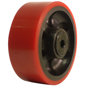 WHL 5x2 URE/GLNY RED/BLK 1/2 DEL  - 5 in.              ( 127 mm ) - WHEELS