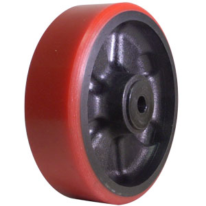 WHL 6x2 URE/GLNY RED/BLK 1/2 DEL  - 6 in.             ( 152 mm ) - WHEELS
