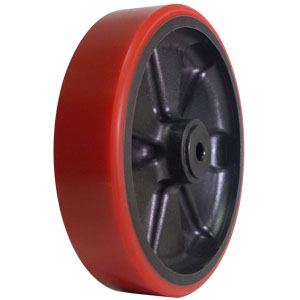 WHL 8x2 URE/GLNY RED/BLK 1/2 DEL  - 8 in.             ( 203 mm ) - WHEELS