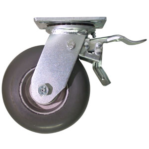 SWL 6x2 NEO/ALUM CROWN PLT BB TLB2P  - Swivel Plate / Brake ( Face Contact ) - CASTERS