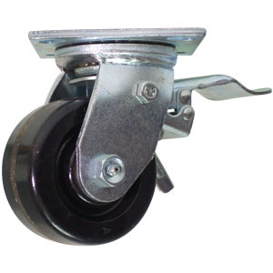SWL 4x2 PHEN PLT RB TLB2P  - Swivel Plate / Brake ( Face Contact ) - CASTERS