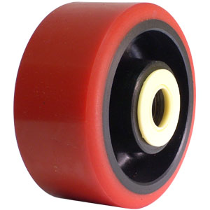 WHL 4x2 URE/GLNY RED/BLK 3/4 RB  - 4 in.              ( 102 mm ) - WHEELS