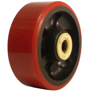 WHL 5x2 URE/GLNY RED/BLK 3/4 RB  - 5 in.              ( 127 mm ) - WHEELS