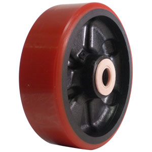 WHL 6x2 URE/GLNY RED/BLK 3/4 RB  - 6 in.             ( 152 mm ) - WHEELS
