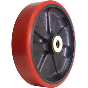 WHL 8x2 URE/GLNY RED/BLK 3/4 RB  - 8 in.             ( 203 mm ) - WHEELS