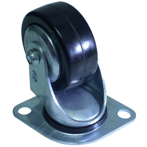 SWL 3x1-1/4 HARD RUBBER AIRLINE PLT PB  - 3 in.               ( 76 mm ) - CASTERS