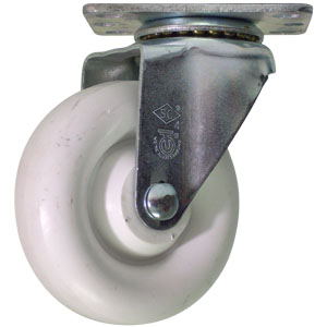 SWL 4 x 1-1/4 POLYO WHT DONUT PB  - All Bearing ( I.D. )  Types & Sizes - CASTERS