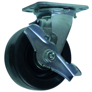 SWL 5x2 PHEN PLT RB BRK  - Swivel Plate / Brake ( Top Lock ) - CASTERS