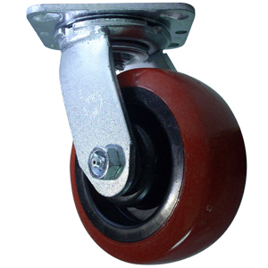 SWL 5x2 URE/POLYO RED/BLK PLT RB  - Red / Black - CASTERS