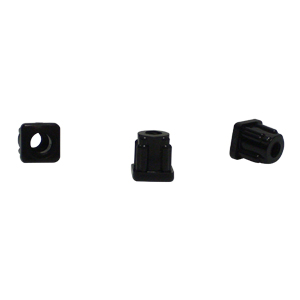 INS SQR 5/8 (16-18) THR 5/16(18) BLACK  - 5/16 (18) Threaded - ADAPTERS