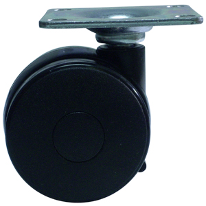 TWIN 60mm NY PLATE BLACK  - CASTERS