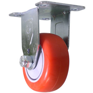 RIG 3x1-1/4  RED URE/POLYO BB PLT  - Ball Bearing (BB) - CASTERS