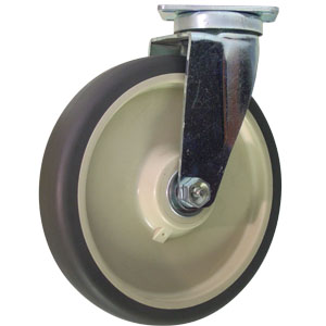 SWL 8x1.5 GR URE/POLYO BB PLT  - 400 - 499 Lbs            ( 182 - 226 kg ) - CASTERS
