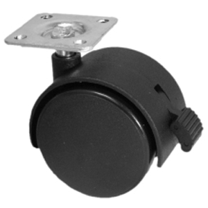 TWN 50mm NY PLATE BLACK BRK  - Swivel Plate / Brake ( Tech Lock ) - CASTERS