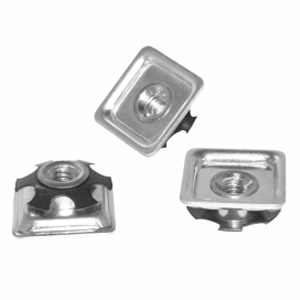 INS 1'' SQR (16 18) THR1/4 (20) CHROME  - Metal - ADAPTERS