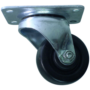 SWL 2 1/2 S.R. PLATE PB (POL CHRM)  - Swivel Top Plate ( S ) - CASTERS