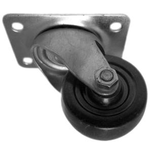 SWL 2 1/2'' S.R. PLT BLACK  - CASTERS