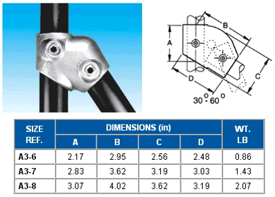 30-60 DEGREE SING SKT TEE   - ALVIN  KEY  CLAMPS