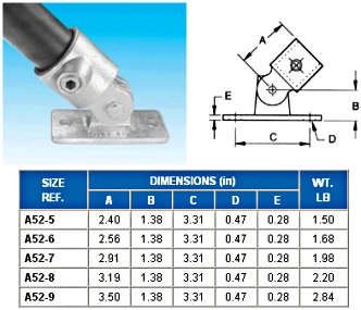 SWIVEL FLANGE (2 PCS)  - Flange ( Base )  - ALVIN  KEY  CLAMPS