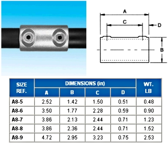 STRAIGHT COUPLING   - ALVIN  KEY  CLAMPS